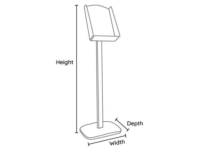 Brochure Holder Line Drawing