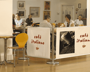 Café Banner Indoors
