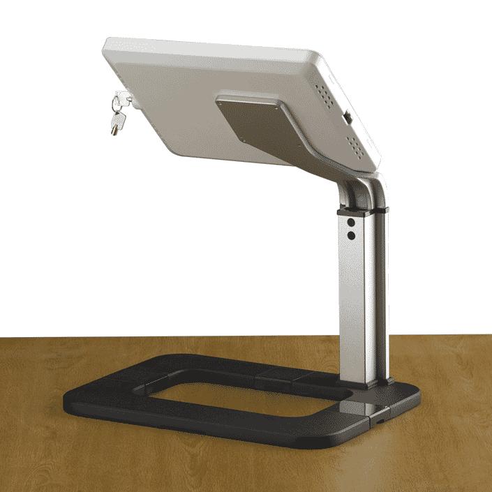 desktop tablet holder back