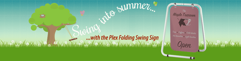 Blog Header - Folding swing sign