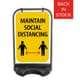 Classic Sign Maintain Social DIstance