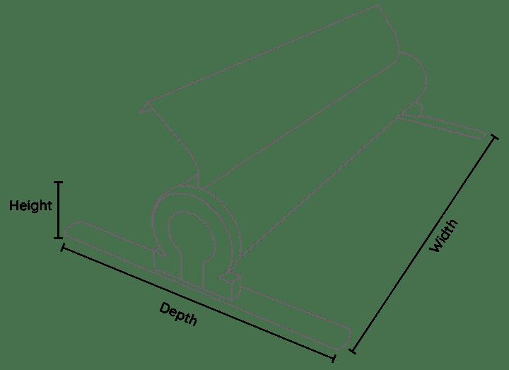 Omega Line Drawing