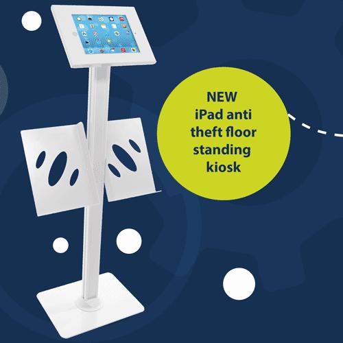 Anti theft floor standing tablet holder