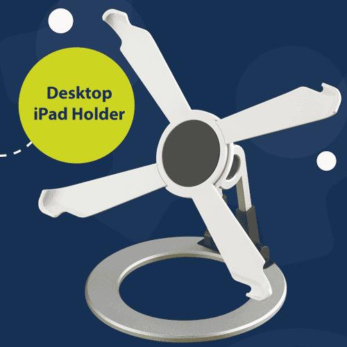 Desktop ipad holder