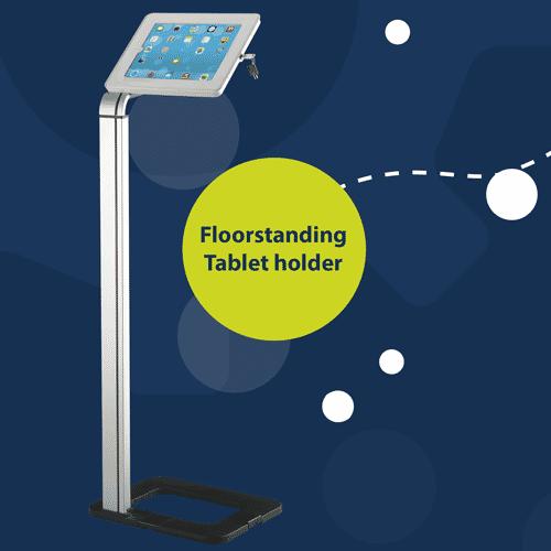 Floor standing universal tablet holder