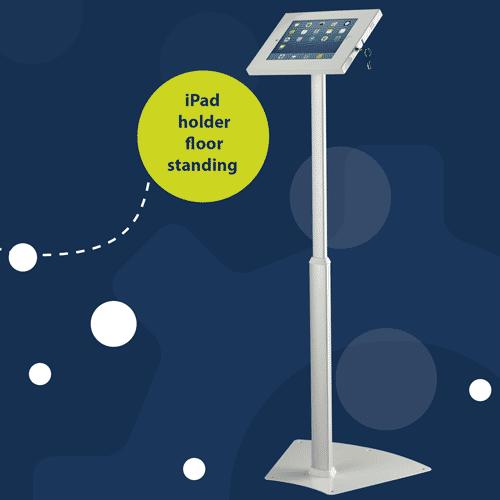 Floor standing telescopic tablet holder