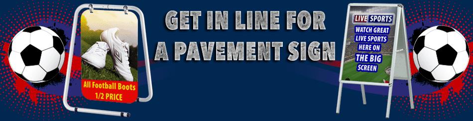 Football Pavement Sign Header