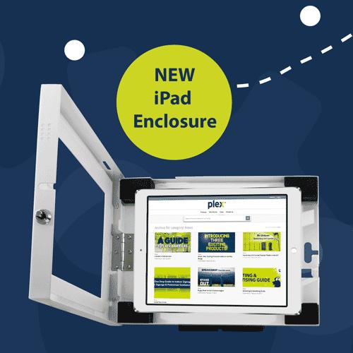 Ipad enclosure tablet holder