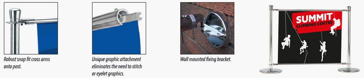 Primo Slide Cafe Barrier Features