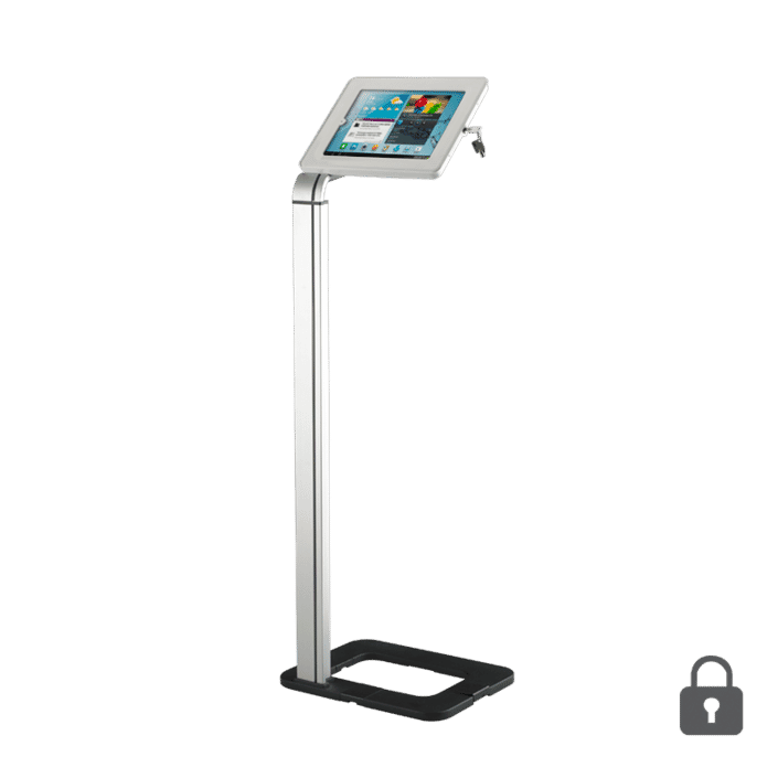 locking universal floorstanding tablet holder