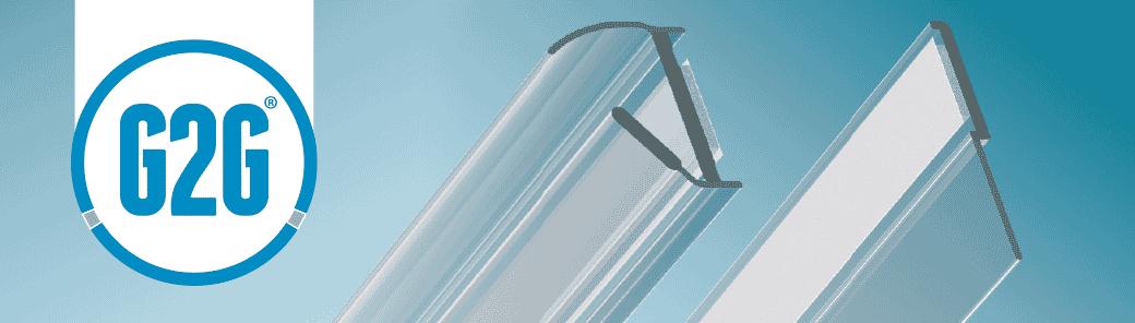 Joints G2G pour portes en verre