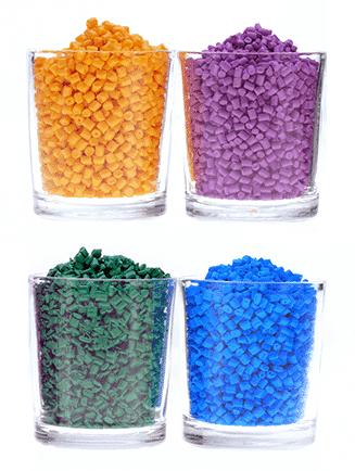 Extrusion material granules
