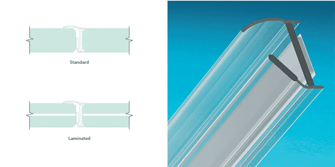 side seal for frameless doors