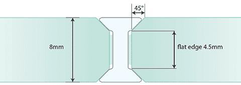 G2G 8mm I Joint - Standard Glass